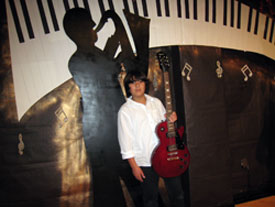 Stefanos Alexiou after his performance at his school's talent show on 12/16/2010